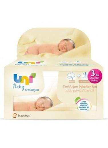 Uni Baby Uni Baby Yenidogan Islak Pamuk Mendil 3'Lü Avantajlı Paket Renksiz